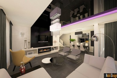 Proiect design interior living modern in Cluj