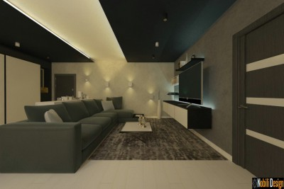 Proiect design interior living modern in Alba Iulia