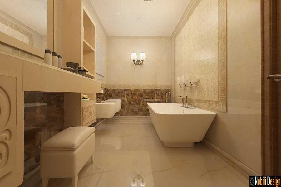 design interior baie stil clasic casa Galati